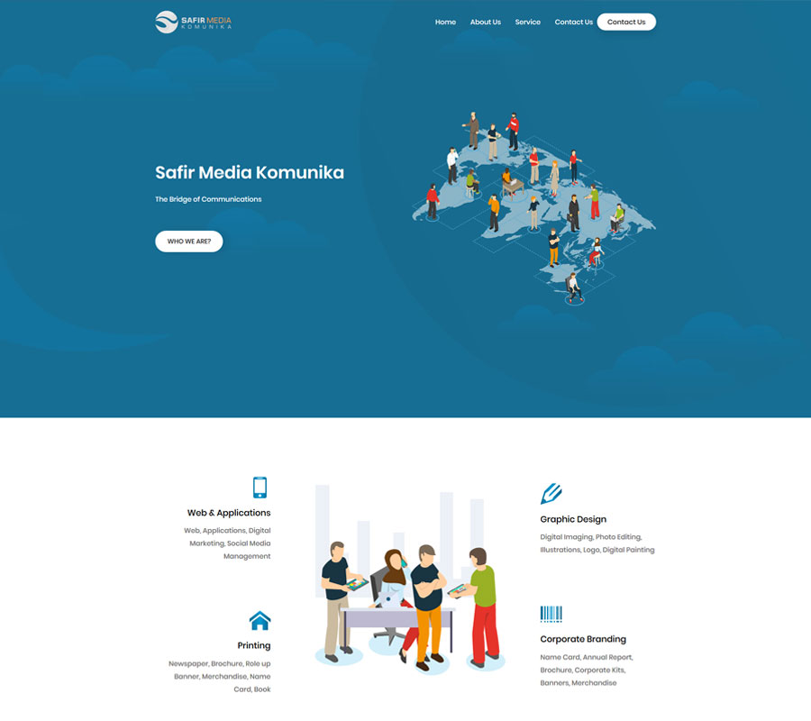 Web Design Safir Media Komunika